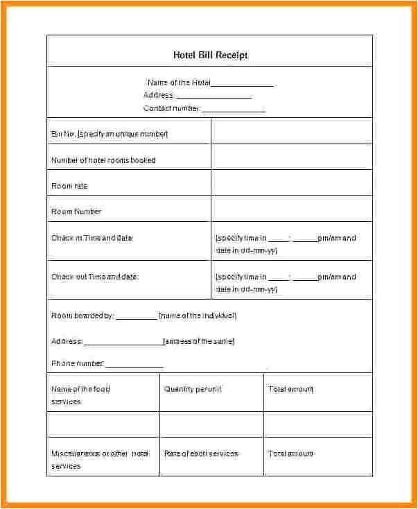 7 holiday inn express receipt template