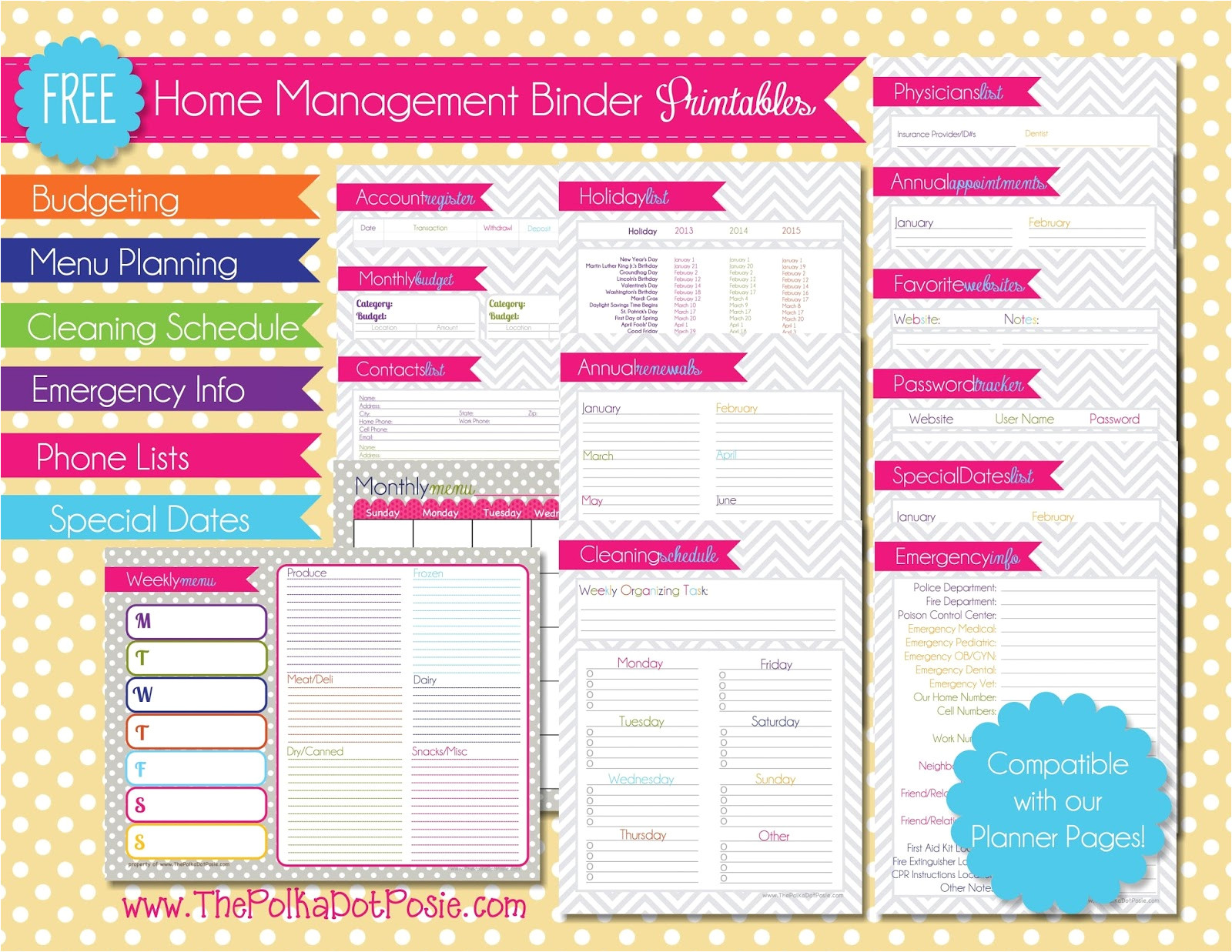 post home management binder printables password sheet 103636