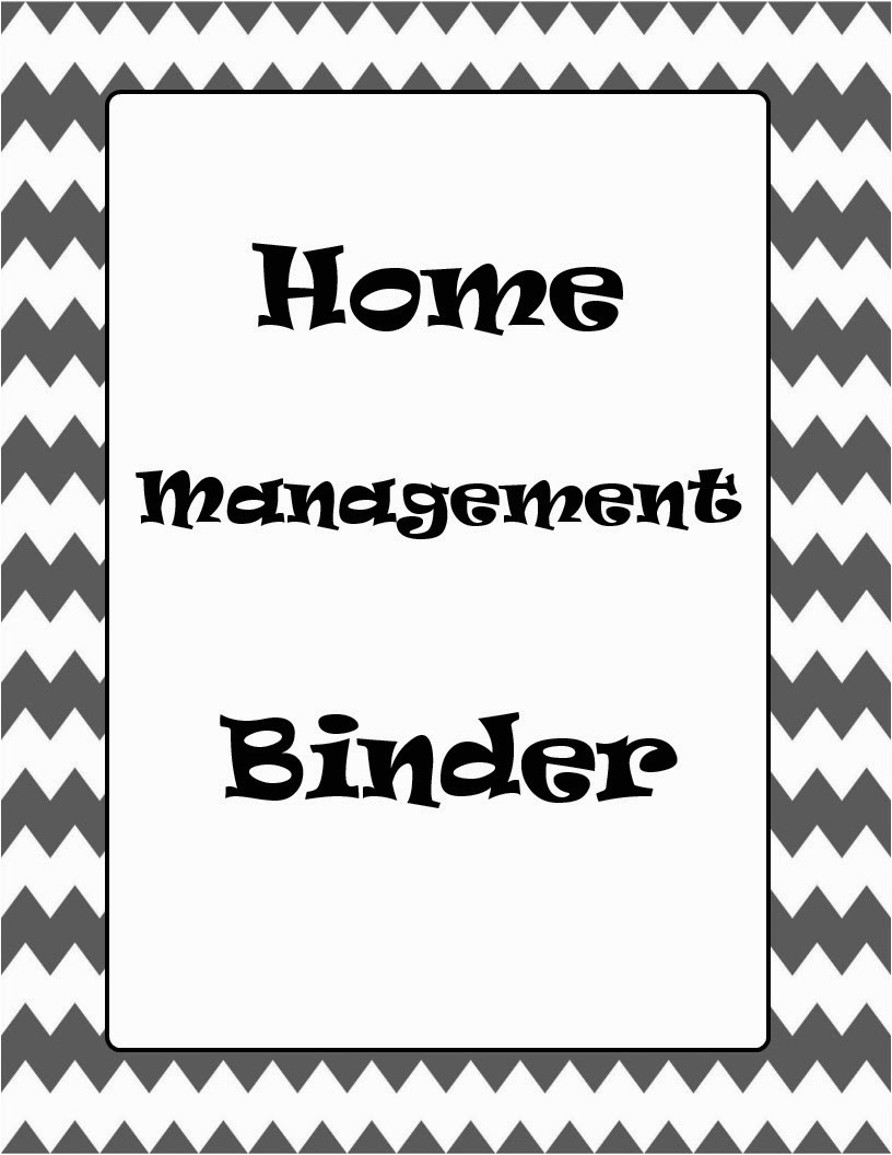 home management binder with free