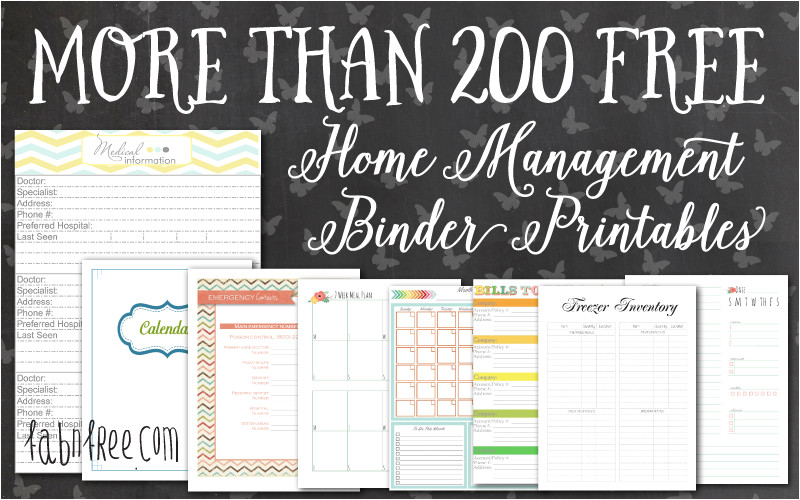 Home Management Binder Templates Free More Than 200 Free Home Management Binder Printables Fab
