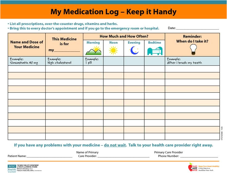 Home Medication Review Template Medicine Picture Schedule My Medication Log Keep It