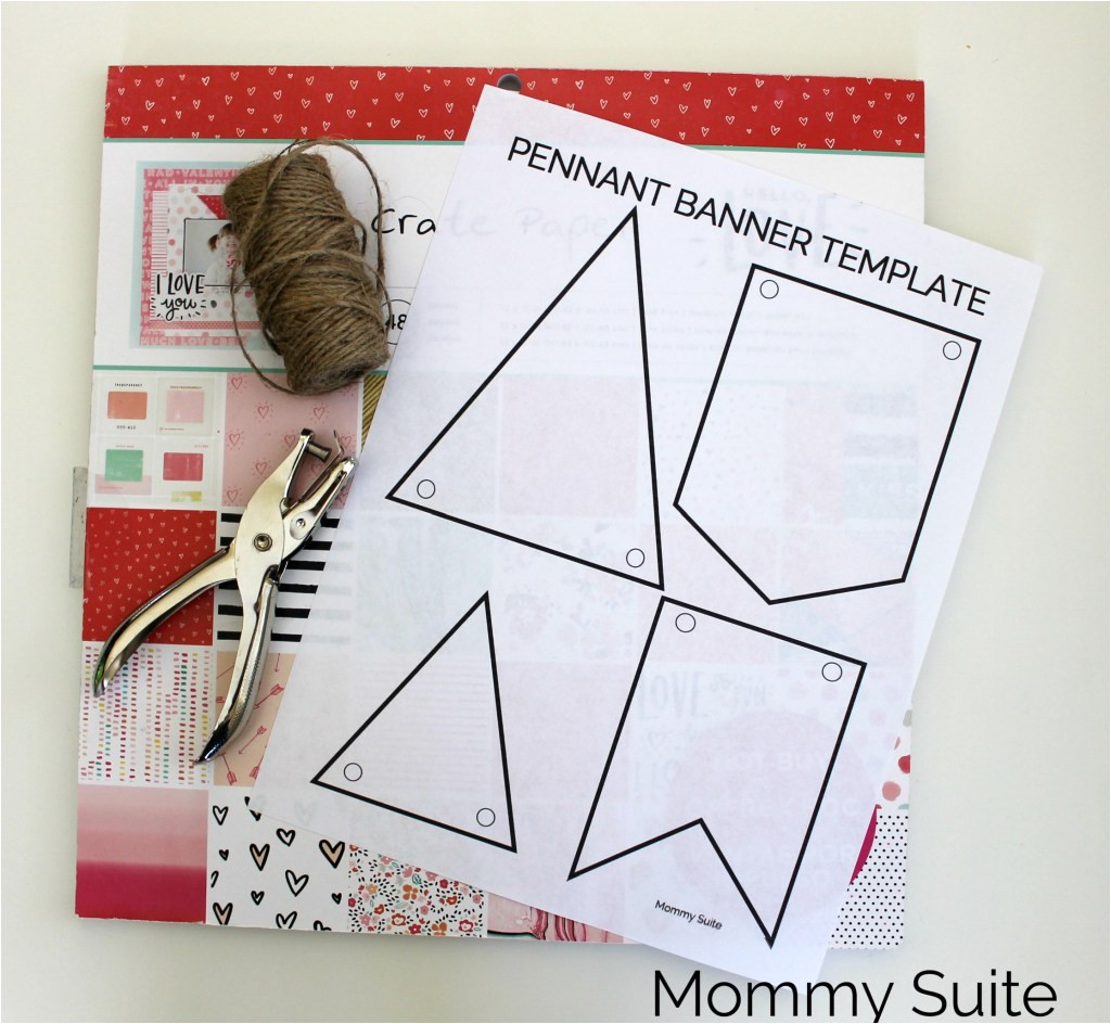 Homemade Banner Template Diy Paper Pennant Banner W Free Template Mommy Suite