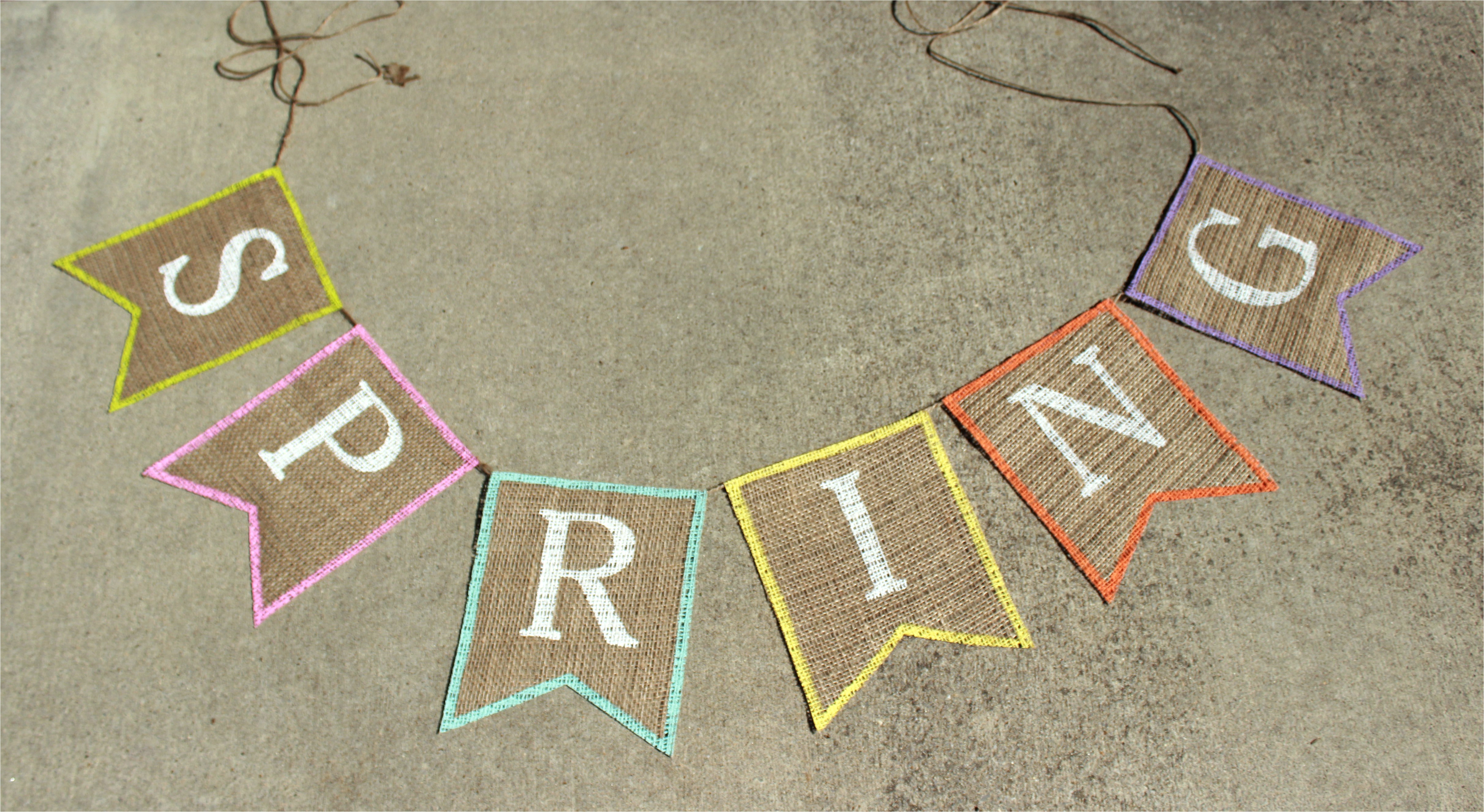 diy spring burlap banner with free banner template