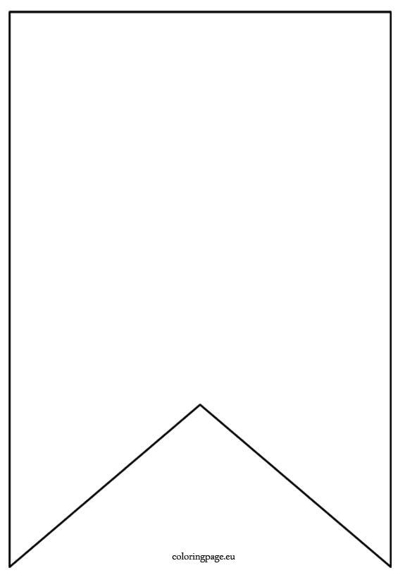 Homemade Banner Template Flag Banner Template Coloring Page Diy and Crafts