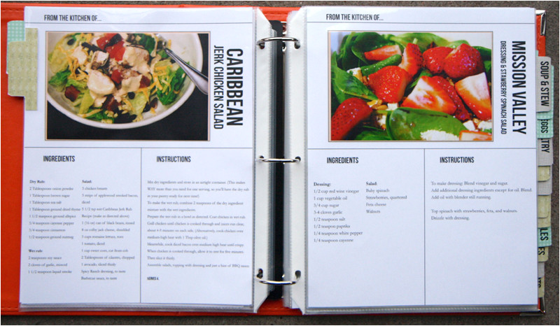 putting together the recipe book