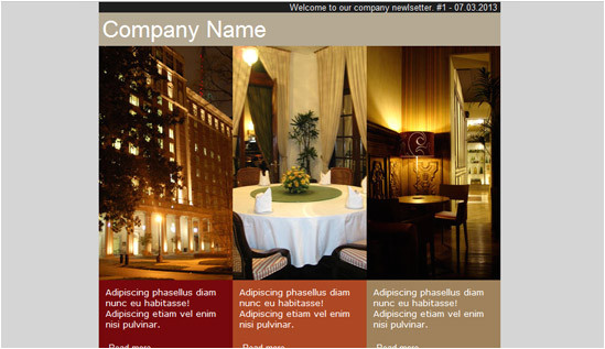 hotel email newsletter templates