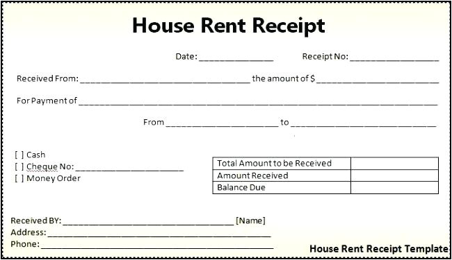 rent receipt template uk