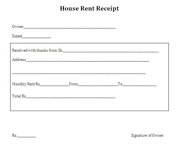 House Rent Receipt Template Uk Search Results for House Rent Receipt format Calendar 2015