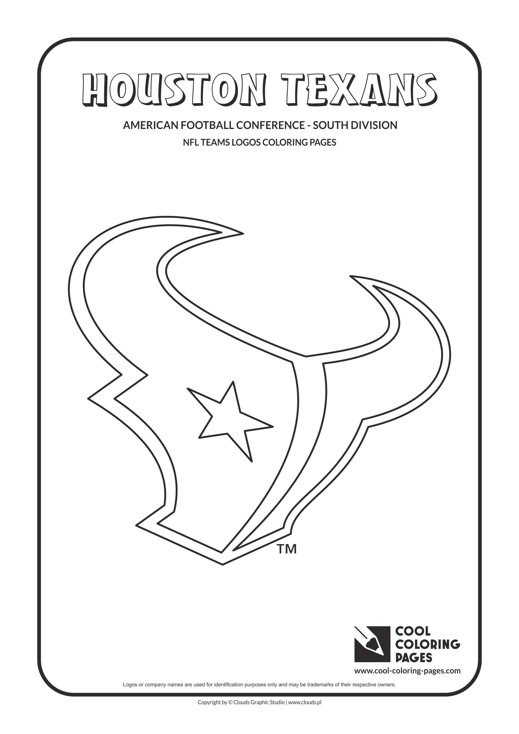 houston texans coloring pages sketch templates