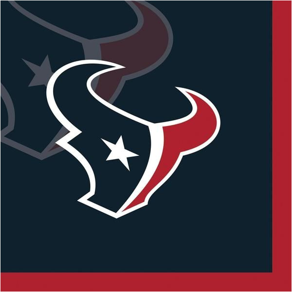 houston texans logo template free nfl 2 ply beverage napkins houston texans case of 192
