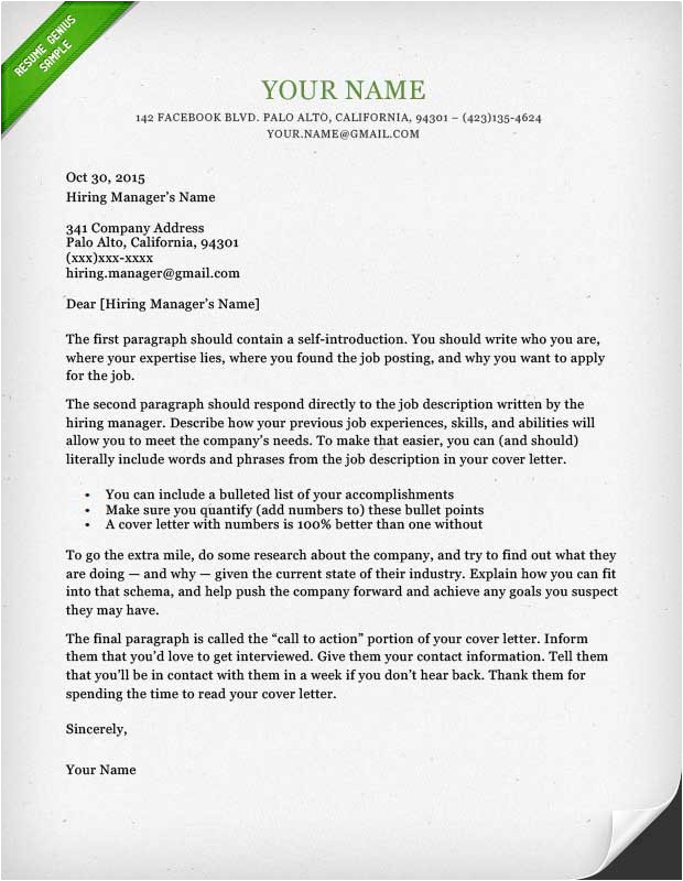 cover letter template library