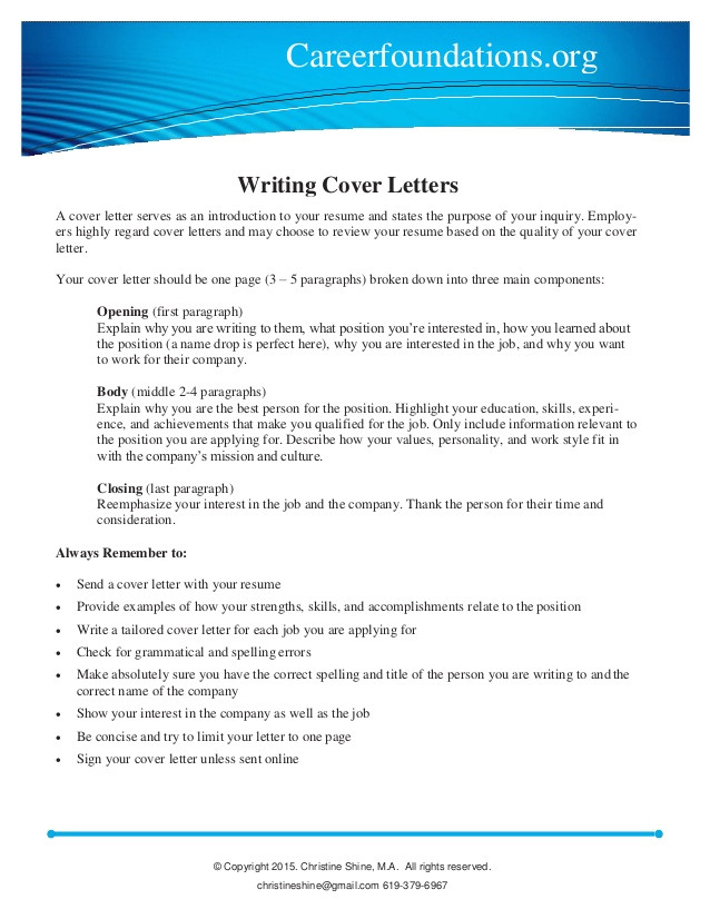 How Do U Write A Cover Letter for A Job Cover Letter Writing Guide