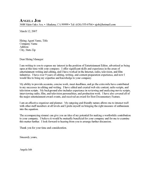 How Should A Cover Letter Be Written Cover Letter Written In Essay Style