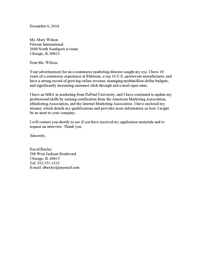cover letter to recruiter 2586