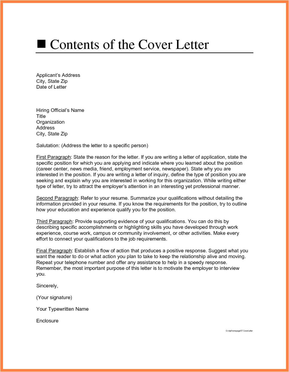 5 cover letter address