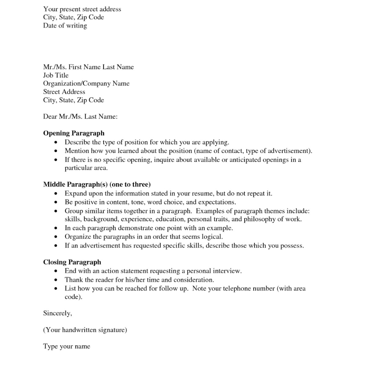 cover letter how to address