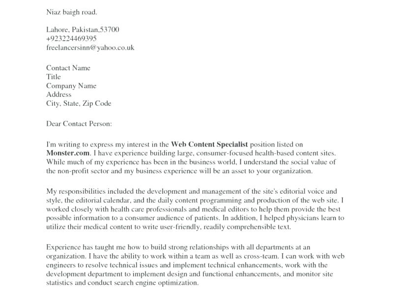 How to Address Cover Letter without Contact Information How to Address A Cover Letter without Contact Information