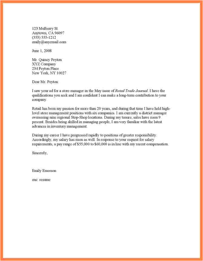 5 salary history in cover letter