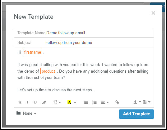 how do i create an email template in hubspot sales
