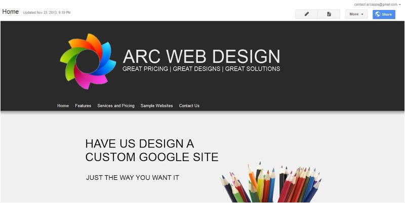How to Change Template On Google Sites Change the Banner Arc Templates Google Sites Templates