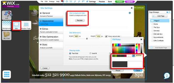 change the colours in your wix theme