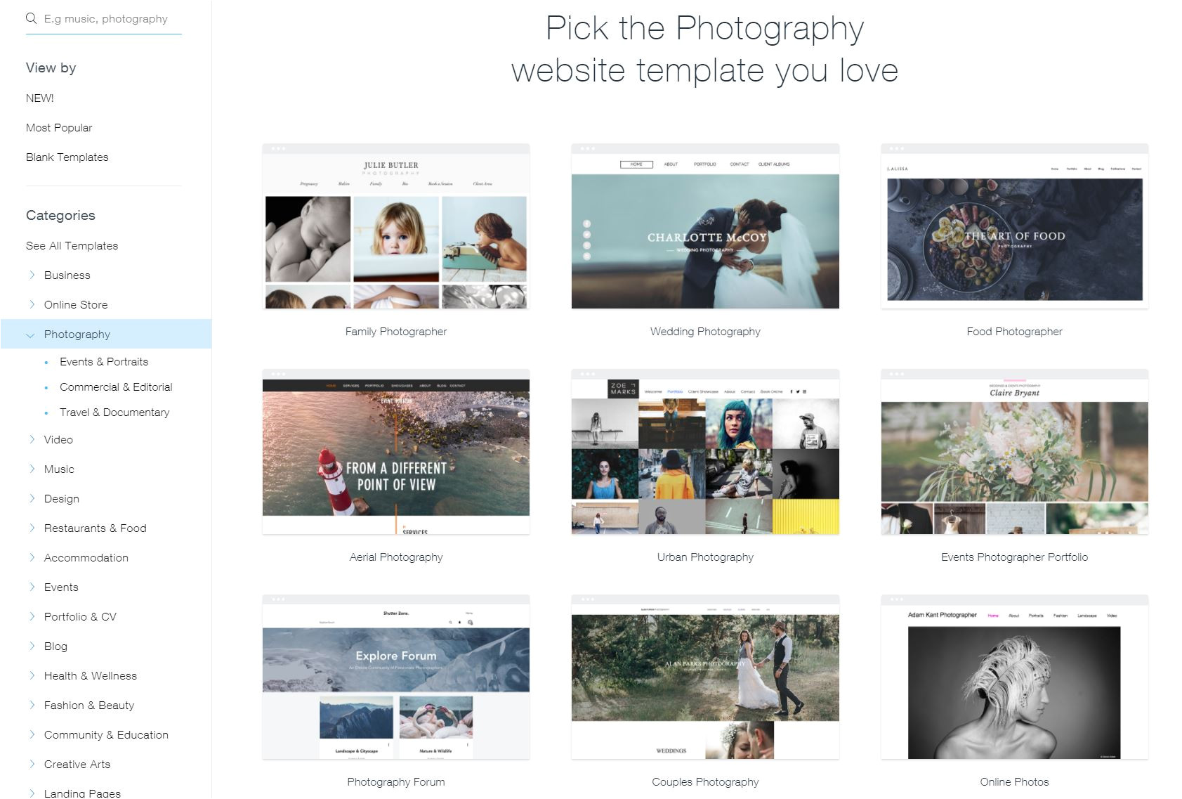 wix how to change template