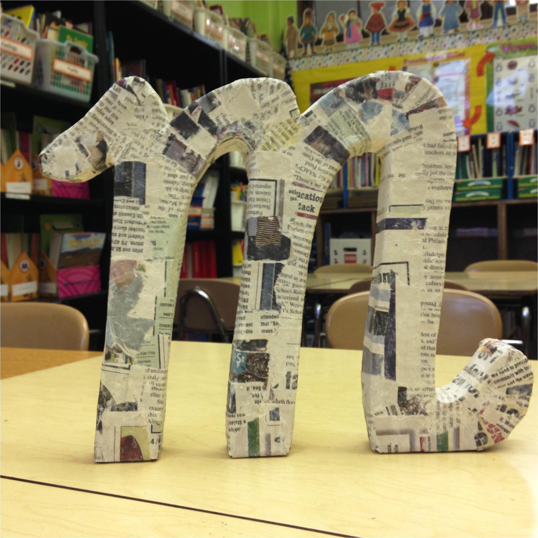 24 diy paper mache letters