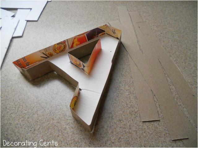 paper mache letters