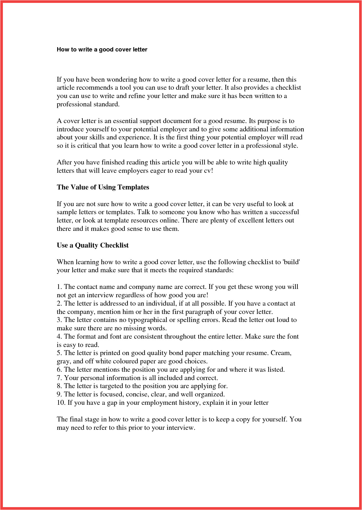 How to Creat A Cover Letter How to Create Cover Letter Memo Example