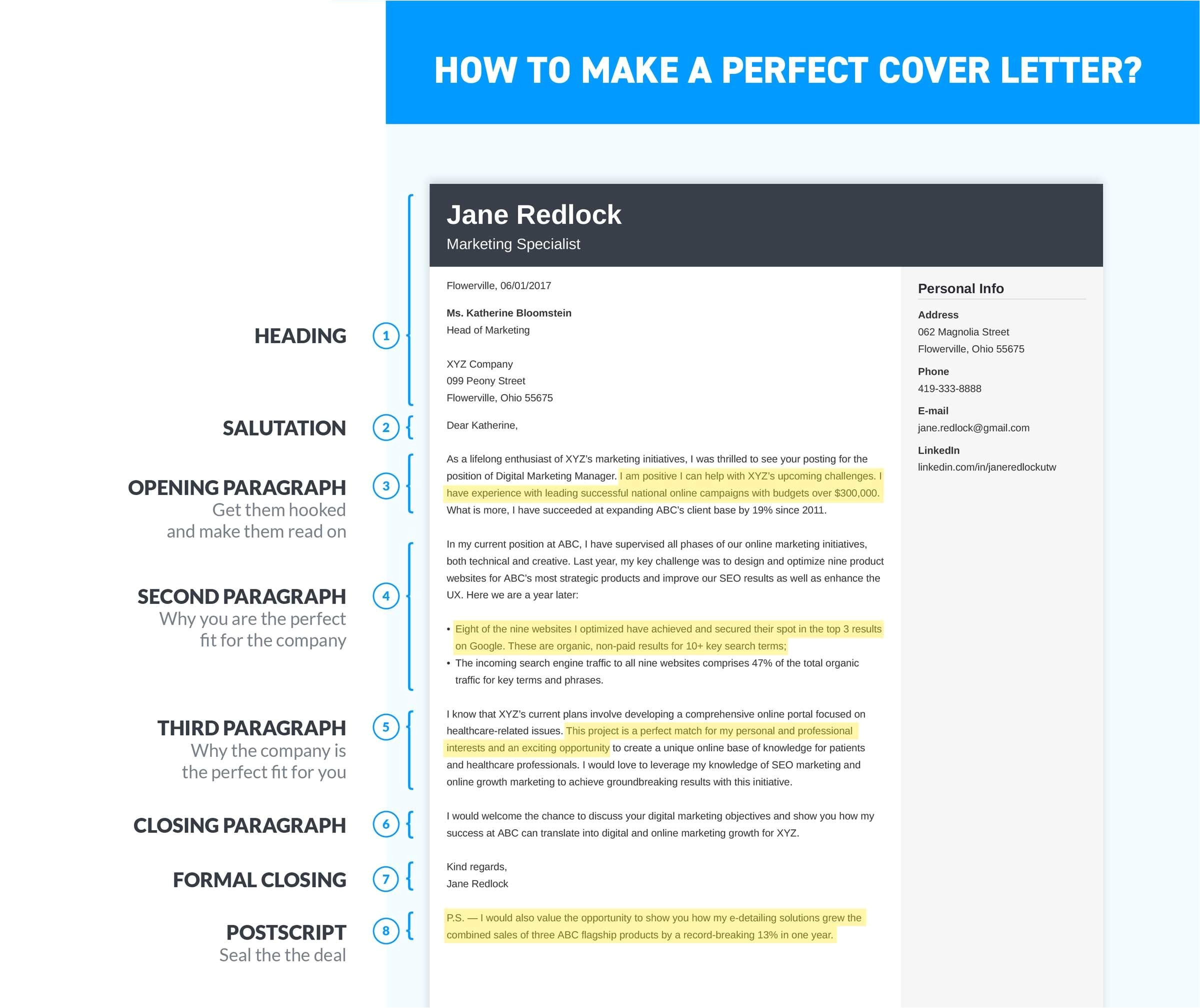How to Creat A Cover Letter How to Write A Cover Letter In 8 Simple Steps 12 Examples