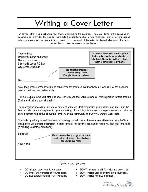 how to make a cover letter for a job application