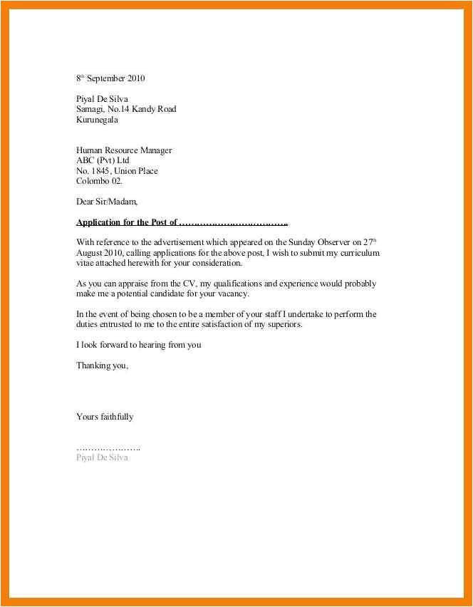 How to Create A Good Resume and Cover Letter 1 2 General Cover Letter Samples for Employment Covermemo