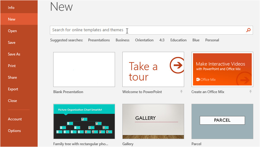 powerpoint 2016 creating opening presentations