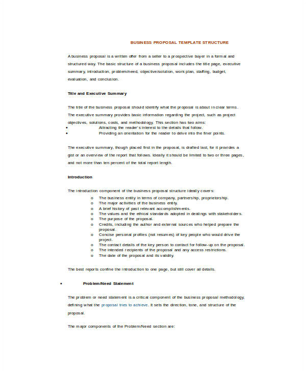 How to Create A Proposal Template In Word Business Proposal Template Word 16 Free Sample Example