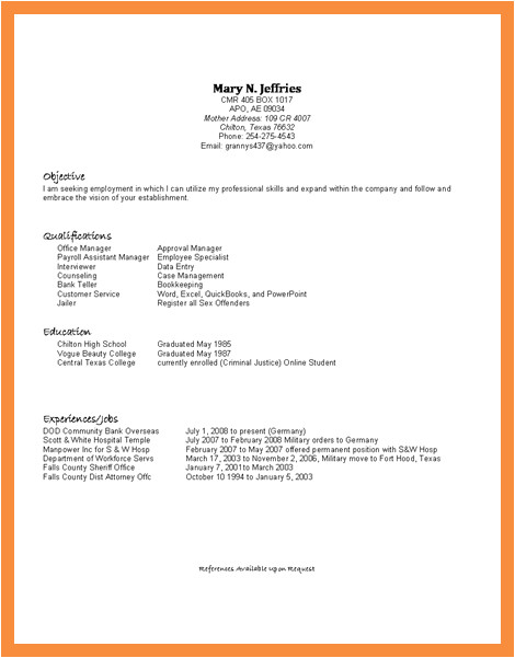 3 4 resume template for high school student with no work experience