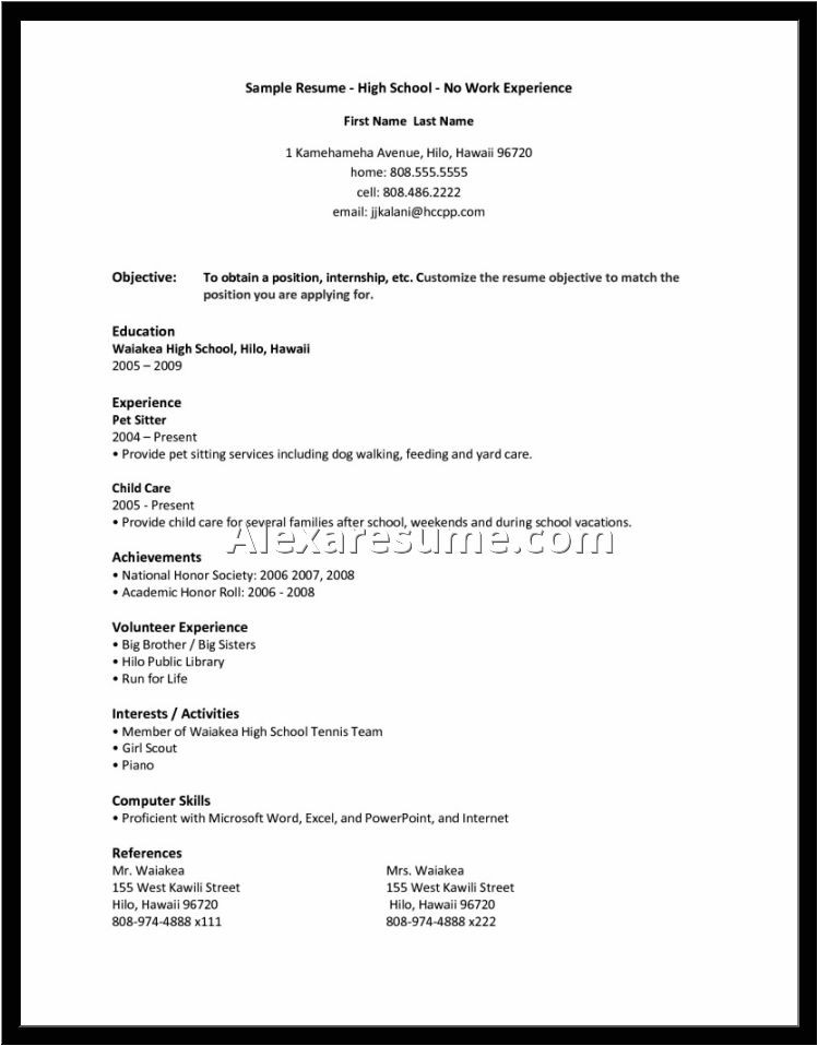 resume for first job no experience how to write a resume with no job experience high school