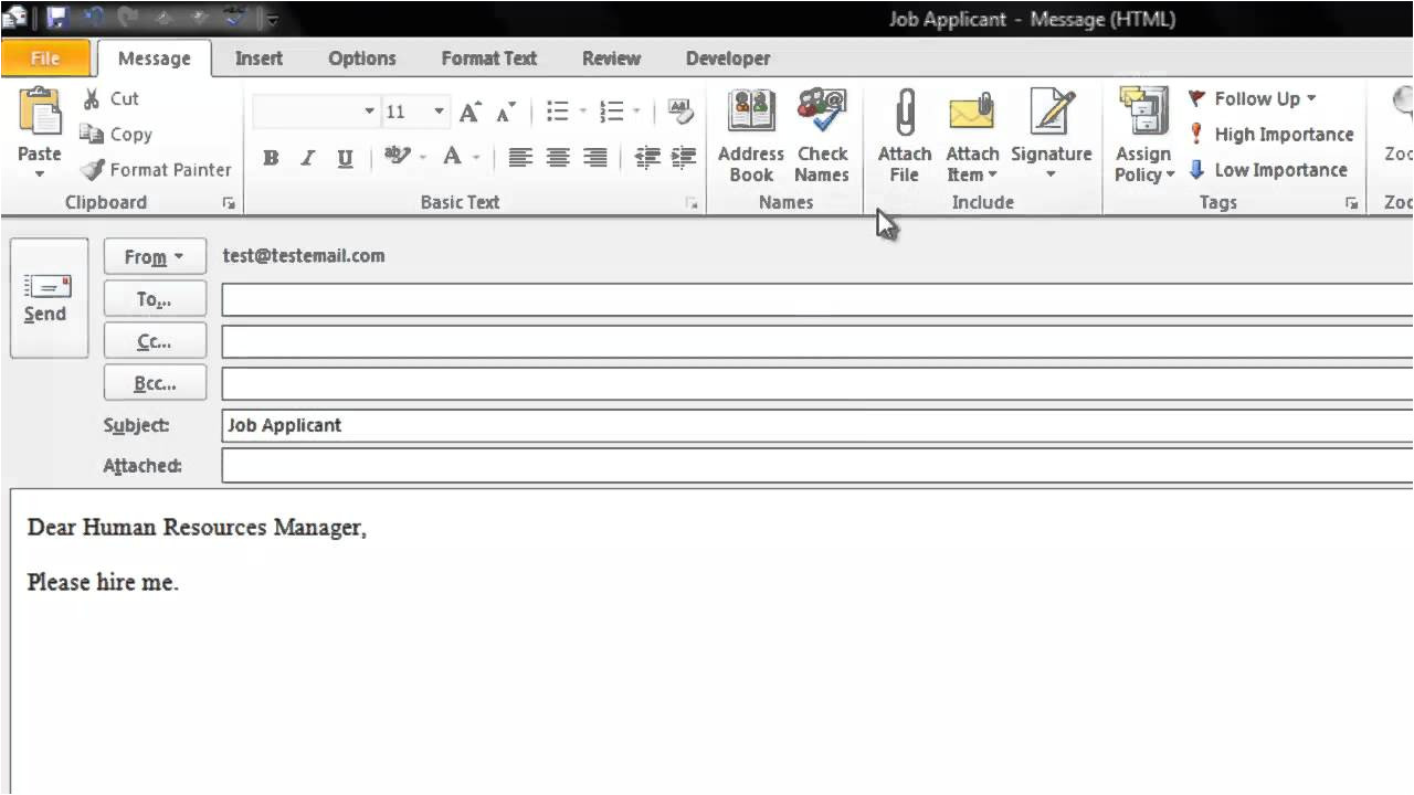 How to Create An Email Template In Outlook 2010 How to Create An Email Template In Microsoft Outlook 2010