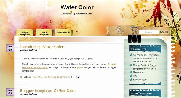 art blogger template free download art