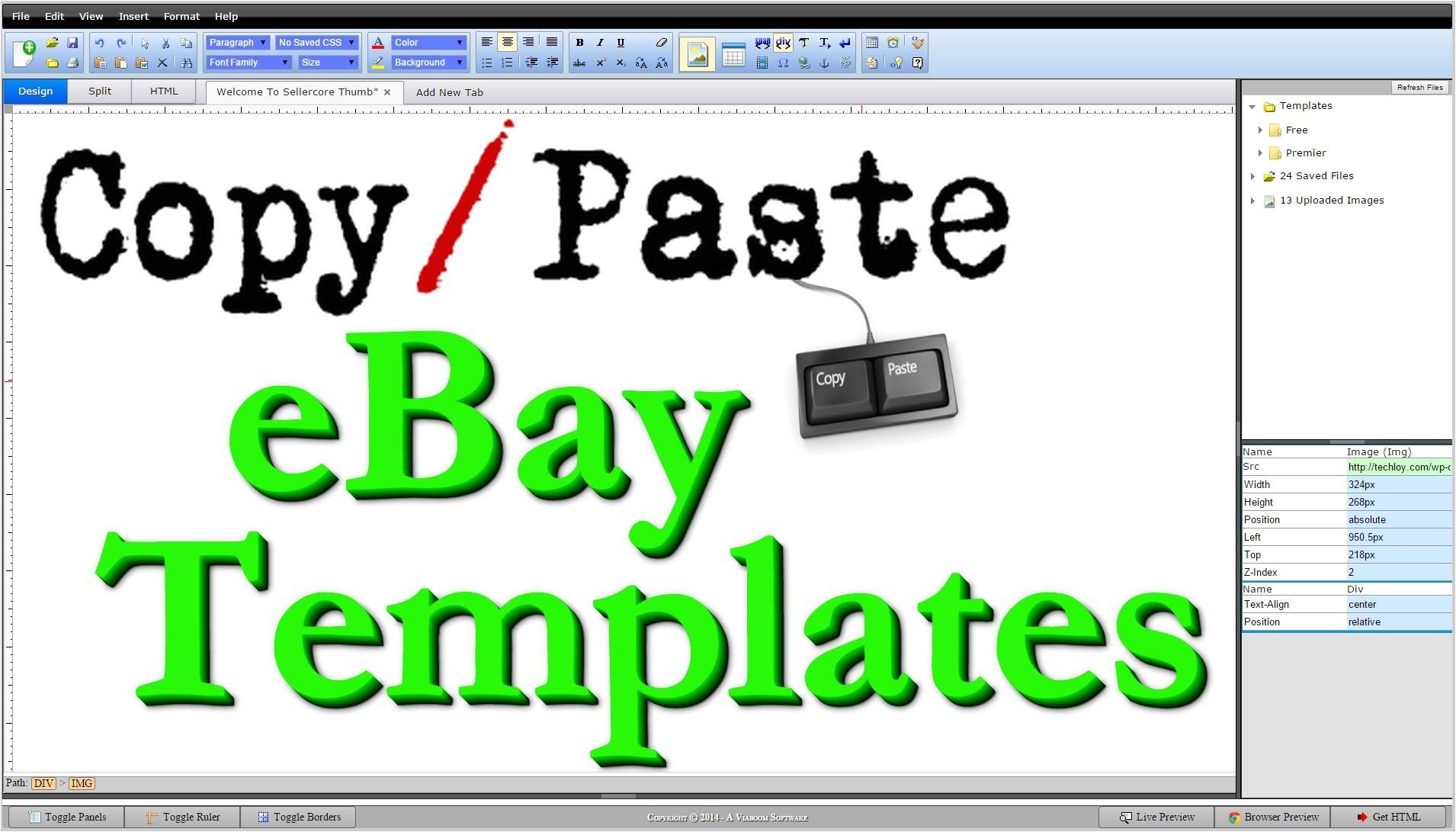 ebay html template