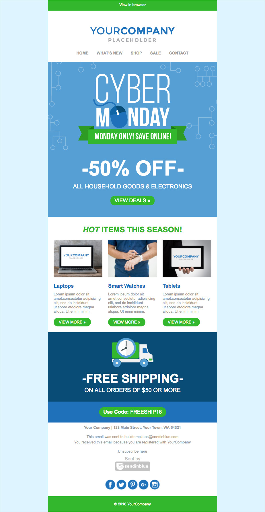 25 holiday email marketing templates