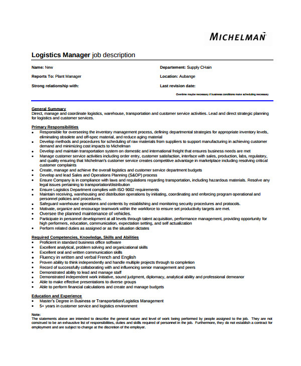 How to Create Job Description Template 33 Job Description Templates Sample Templates