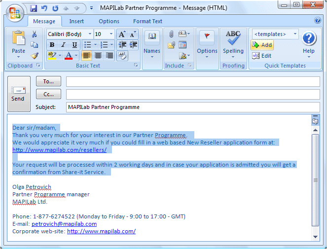 How to Create Template In Outlook 2007 Free Downloads Center Blog 2012 April