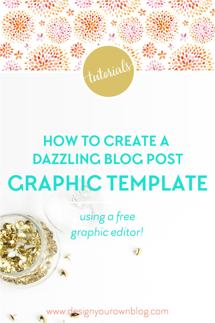 tutorial how to create a blog post graphic template