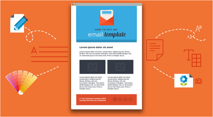 how to customize an html email template