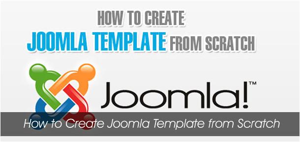 create joomla template scratch