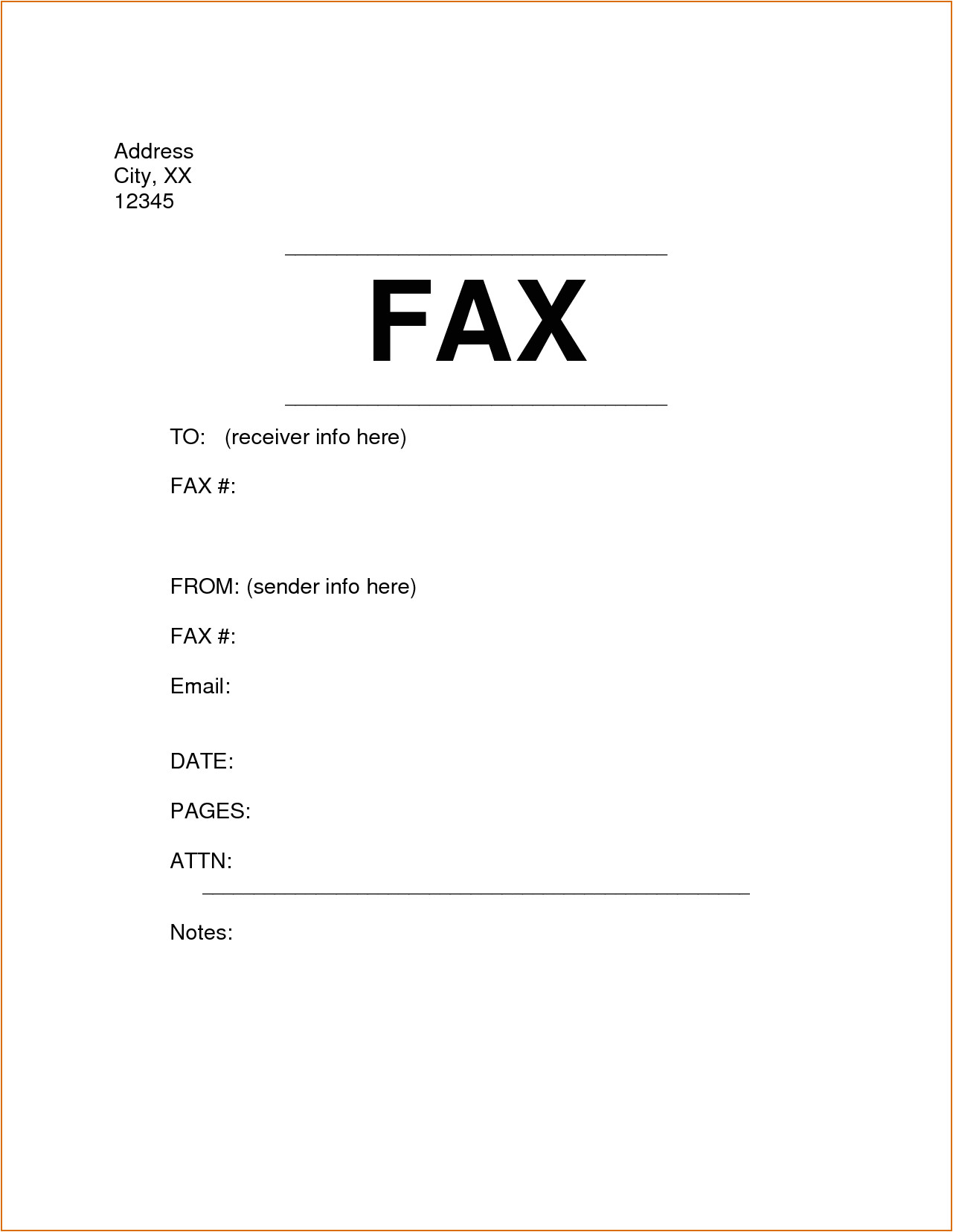 6 fax cover sheet format