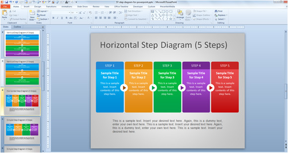How to Download Powerpoint Templates From Microsoft Free Steps Diagram for Powerpoint