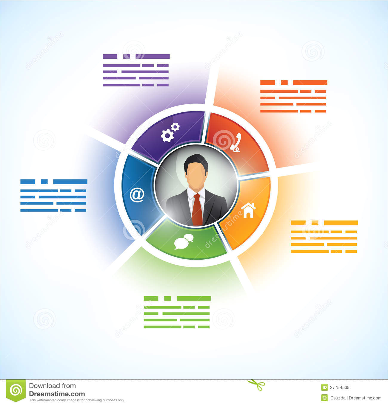 How to Download Powerpoint Templates From Microsoft Presentation Template with Avatar Stock Vector Image