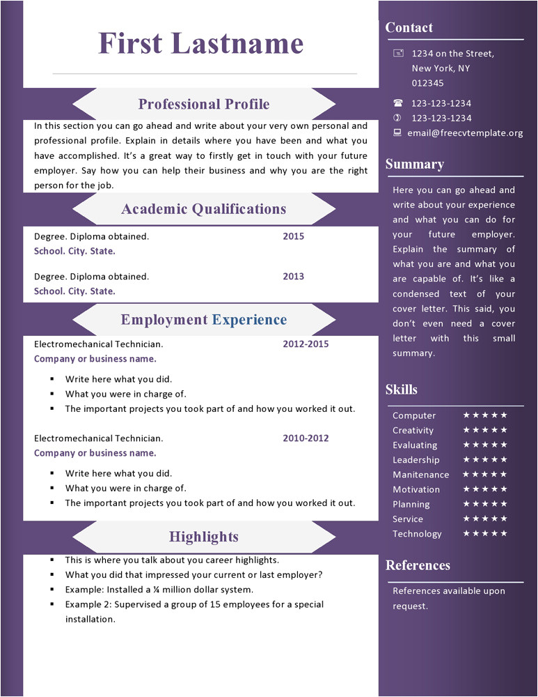 free cv resume templates 360 to 366