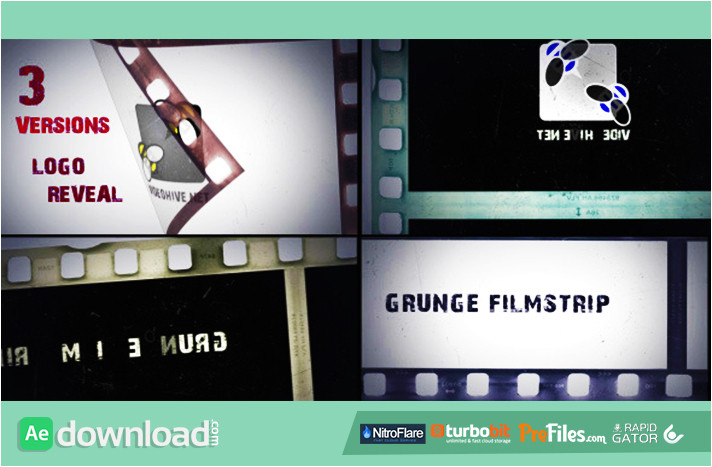 grunge filmstrip videohive template free download